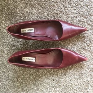 Steve Madden Red Pointed Heels.